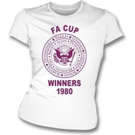 West Ham FA Cup Winners  1980 Girl's Slim-Fit T-shirt