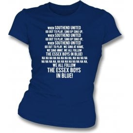When Southend United Go Out To Play Womens Slim Fit T-Shirt
