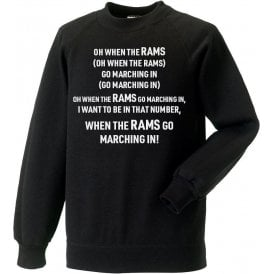 When The Rams Go Marching In (Derby County) Kids Sweatshirt