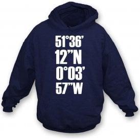 White Hart Lane Coordinates (Tottenham Hotspur) Kids Hooded Sweatshirt