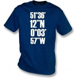 White Hart Lane Coordinates (Tottenham Hotspur) Kids T-Shirt