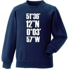 White Hart Lane Coordinates (Tottenham Hotspur) Sweatshirt