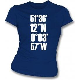 White Hart Lane Coordinates (Tottenham Hotspur) Womens Slim Fit T-Shirt
