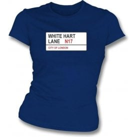 White Hart Lane N17 Women's Slimfit T-Shirt (Spurs)