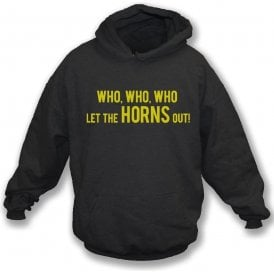 Who Let The Horns Out Kids Hooded Sweatshirt (Watford)