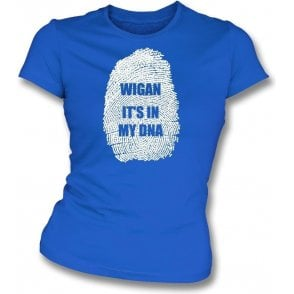 Wigan - It's In My DNA Womens Slim Fit T-Shirt