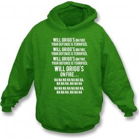 Will Grigg's On Fire Hooded Sweatshirt (Northern Ireland)