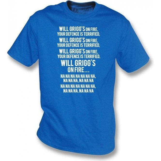 Will Grigg's On Fire T-Shirt (Wigan Athletic)