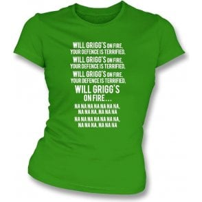 Will Grigg's On Fire Womens Slim Fit T-Shirt (Northern Ireland)