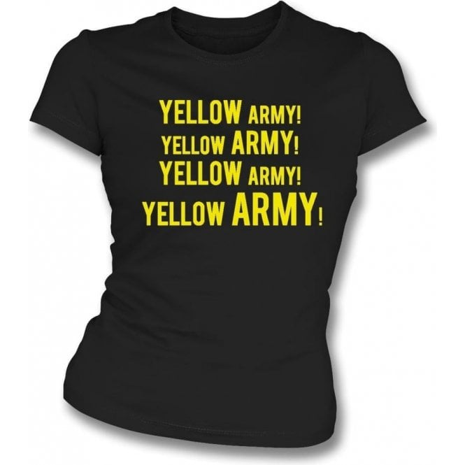 Yellow Army! Womens Slim Fit T-Shirt (Burton Albion)
