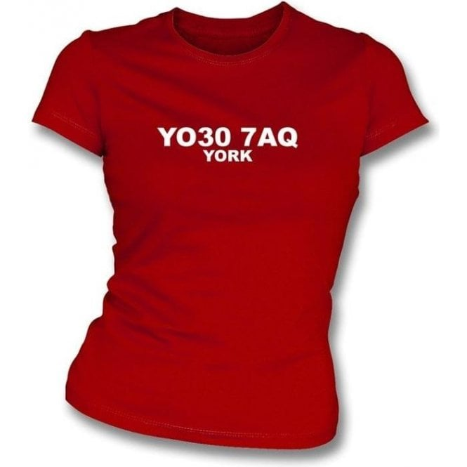 YO30 7AQ York Women's Slimfit T-Shirt (York City)