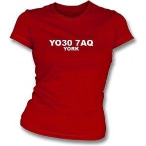 YO30 7AQ York Women's Slimfit T-Shirt (York City)