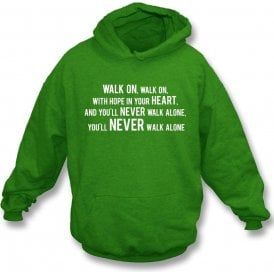 You'll Never Walk Alone (Celtic) Kids Hooded Sweatshirt