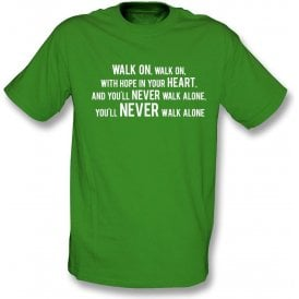 You'll Never Walk Alone (Celtic) Kids T-Shirt