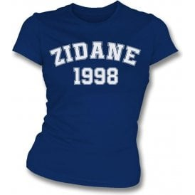 Zidane 1998 (France) Womens Slim Fit T-Shirt