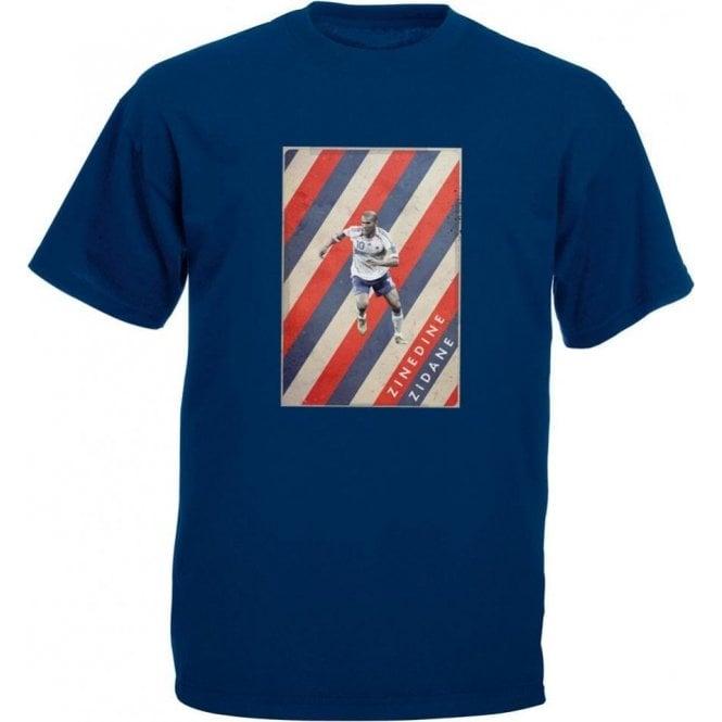 Zinedine Zidane (France) Vintage Poster T-Shirt
