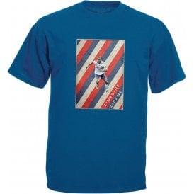 Zinedine Zidane (France) Vintage Poster Vintage Wash T-Shirt