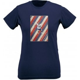 Zinedine Zidane (France) Vintage Poster Womens Slim Fit T-Shirt